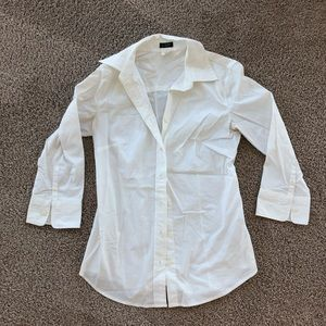 Jcrew Perfect Fit Button Down Shirt 3/4 Sleeve